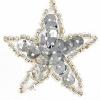 Motif Sequin/beads Mini Stars Silver 3cm